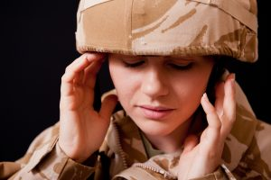 Soldier exposed to harmful levels of noise